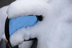 Car In Snowfall