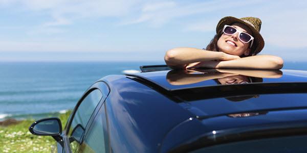 Lady Enjoying Vacation